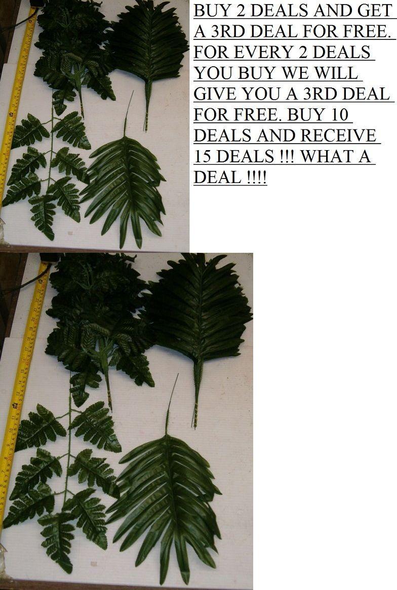 Silk Flowers 16494 432 Mixed Silk Fern Leaf Stems Wholesale
