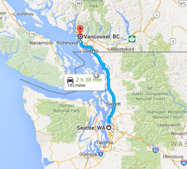 Distance From Seattle To Vancouver Island