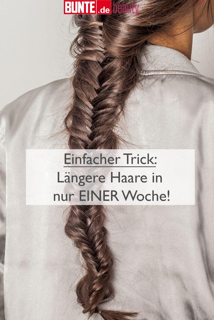 Beauty-Tipp: Einfacher Trick: Längere Haare in nur EINER Woche!