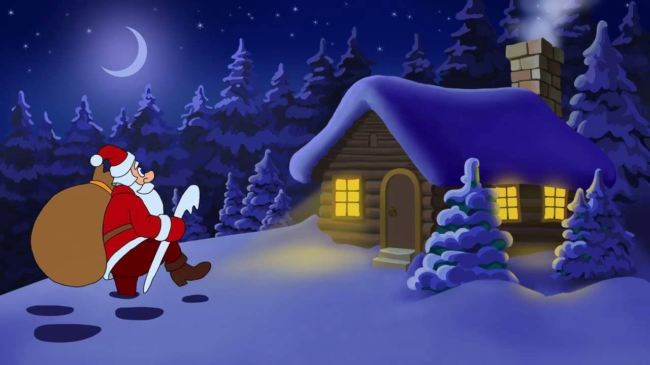 Christmas And New Year With Cartoon Santa Claus   YouTube