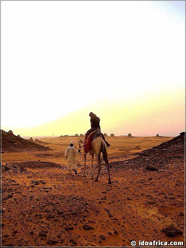 Sunset at the pyramids of Meroe in Sudan
