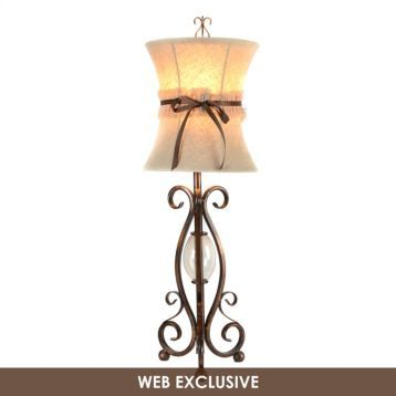 Kirklands bronze scroll table lamp with ribbon these would be kirklands bronze scroll table lamp with ribbon these would be great on aloadofball Image collections