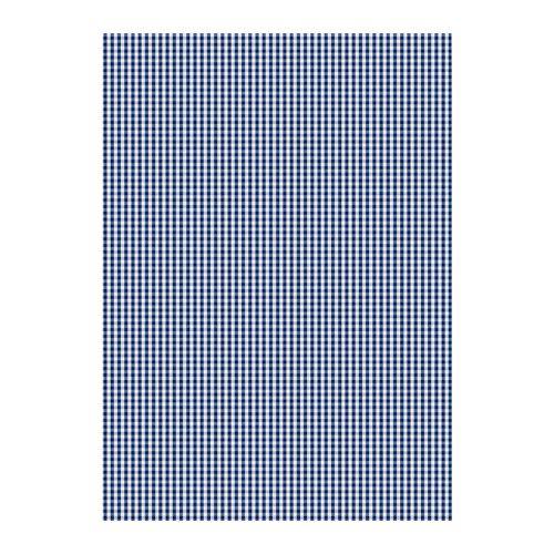 IKEA - BERTA RUTA, Metervare, Garnfarget tekstil; mønsteret er synlig på begge sider; ser bra ut fra utsiden også.