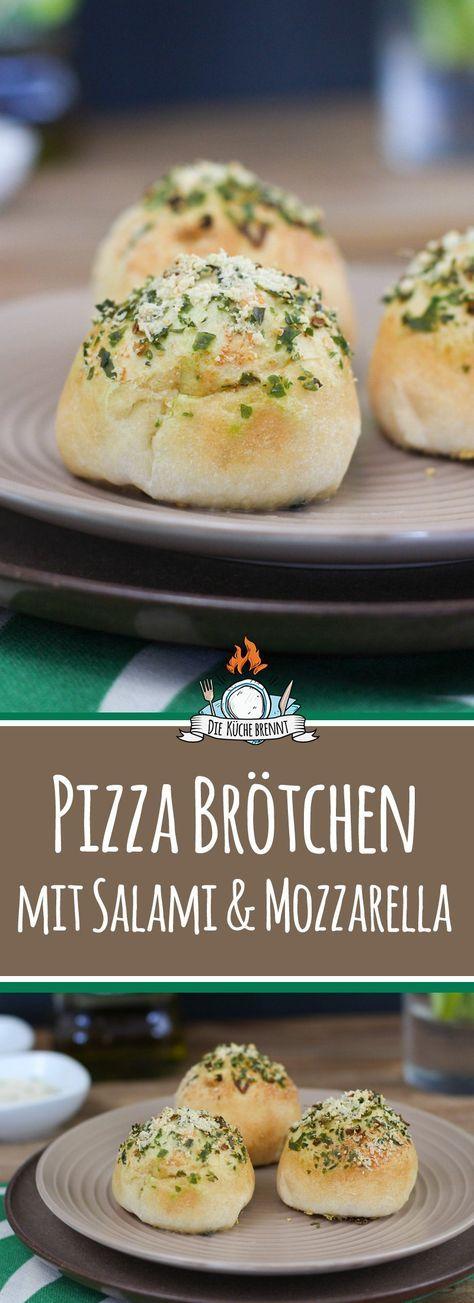 Italian Cheese Balls Aka Salami Mozzarella Pizzabrotchen Rezept Pizzabrotchen Fingerfood Rezepte Gefullte Pizzabrotchen