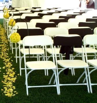 White Folding Chair Wedding