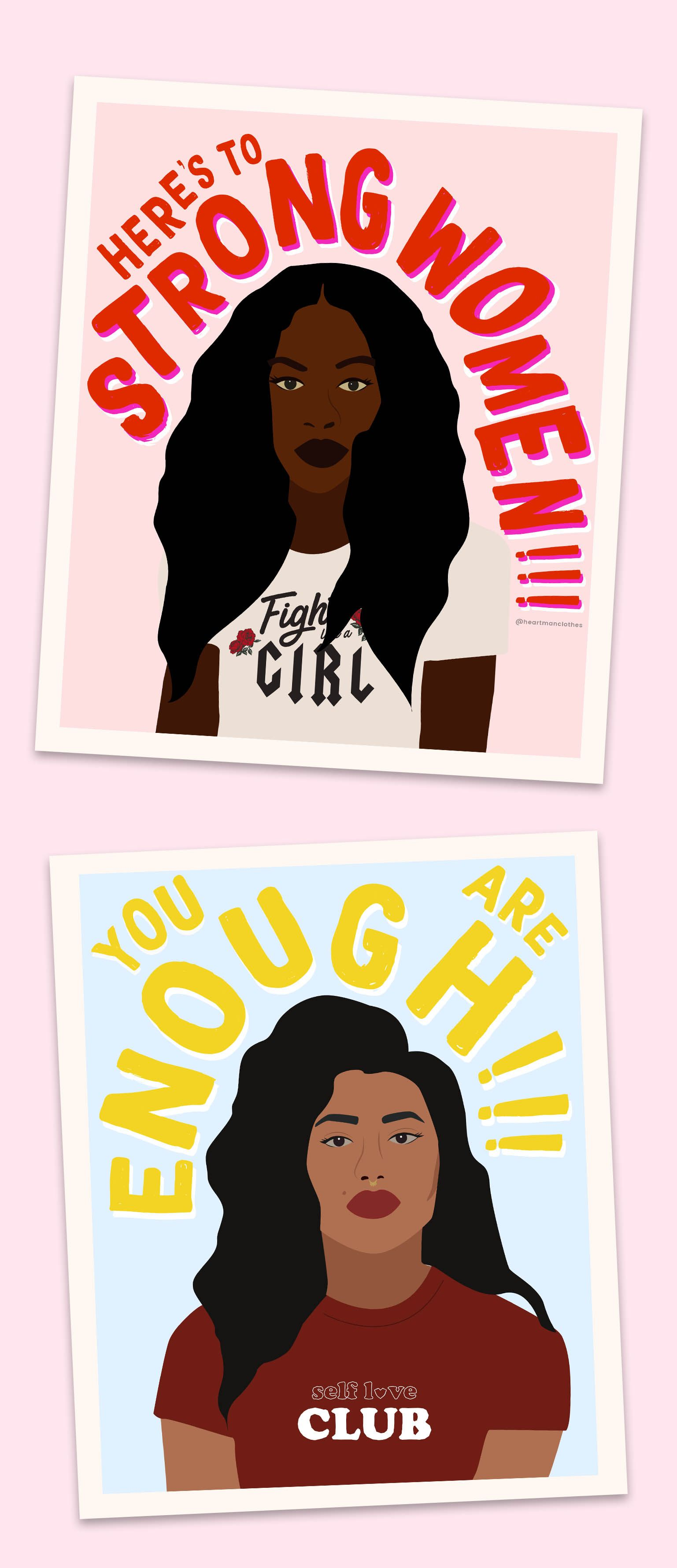 Here S To Strong Women Free Printable Feminist Wall Art