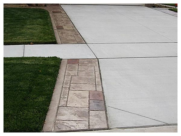 Stamped Concrete Driveways With Walkways Driveways