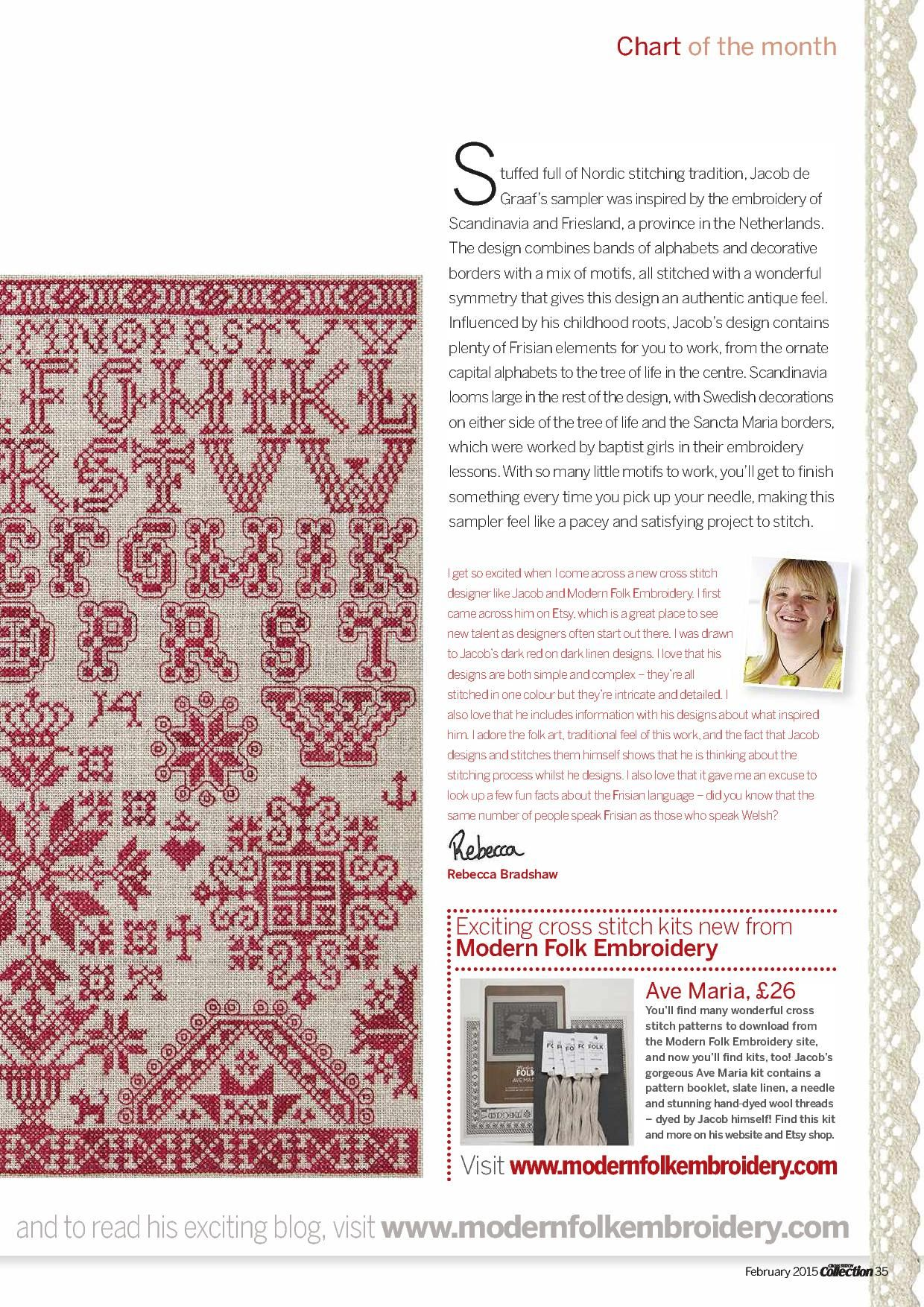 3 of 7 Nordic Inspiration From Cross Stitch Collection  N°245 February 2015