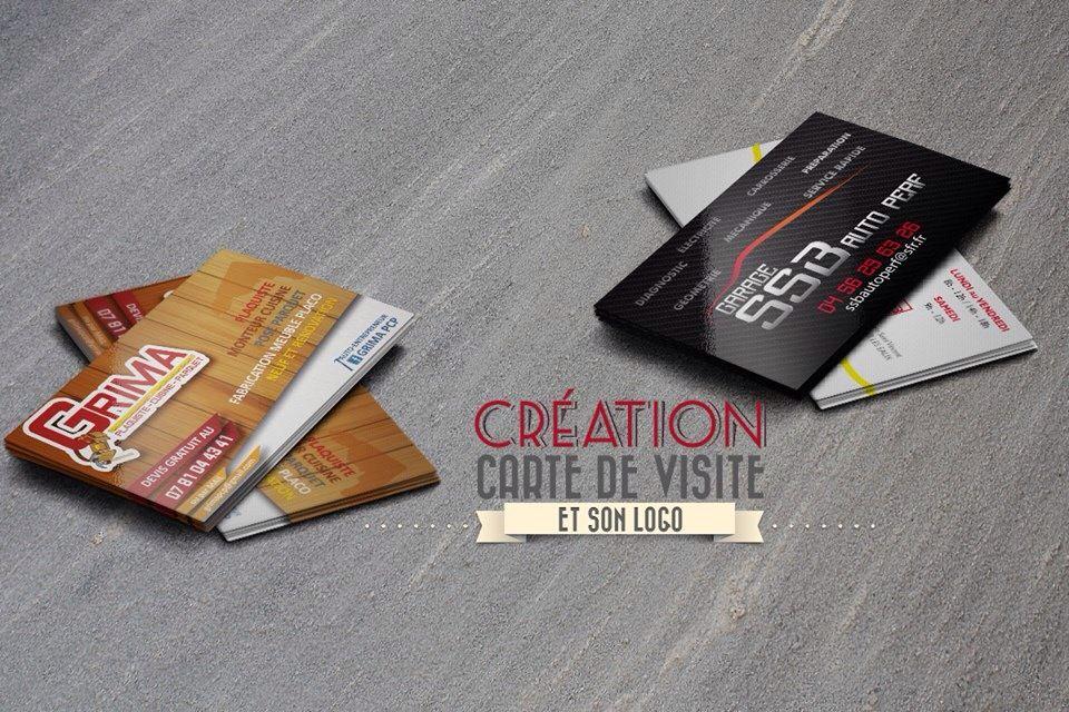 Cration De Carte Visite Et Logo Garage SSB Autoperf Grima Plaquiste