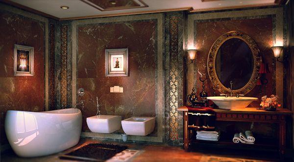 Luxus badezimmer ~ Luxus orientalisches badezimmer hausboot