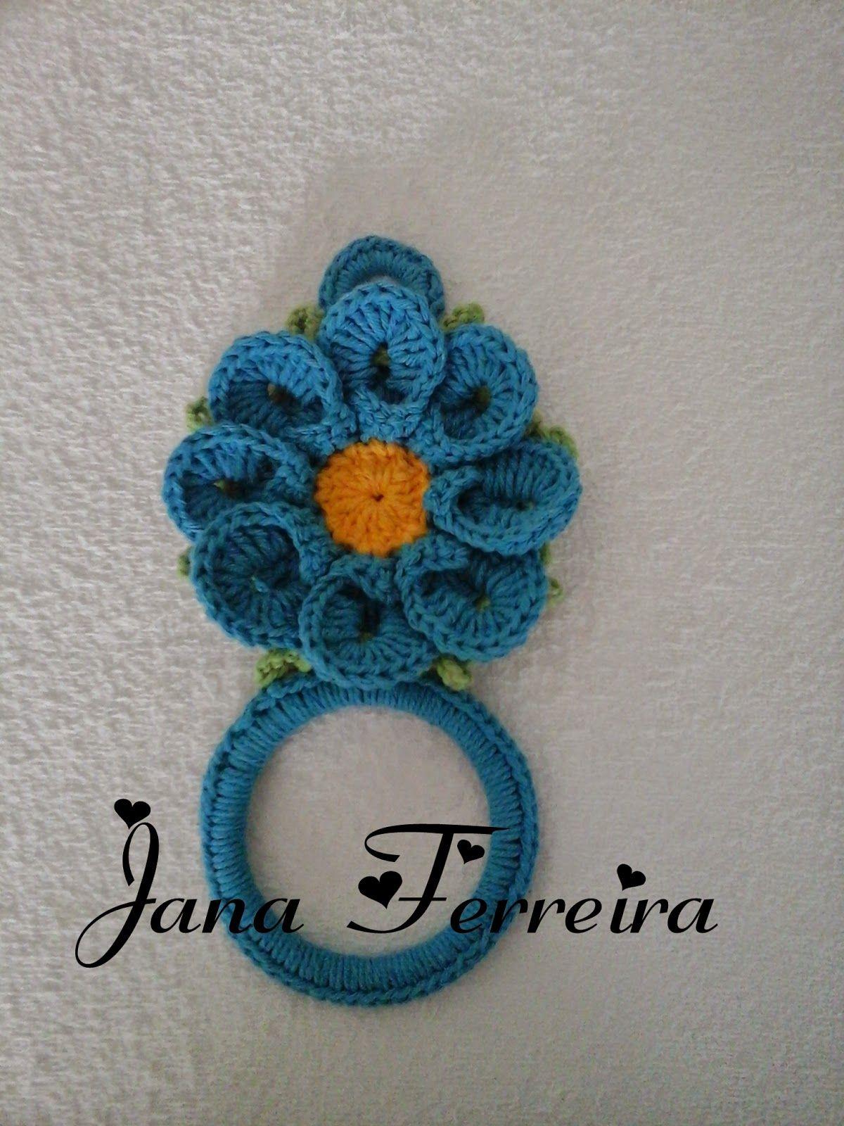 Cantinho da Jana: Porta pano de prato | crochet-towel topper ...
