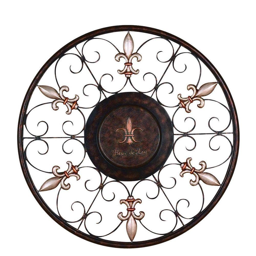 Metal wall plaque overstock circular designs pinterest