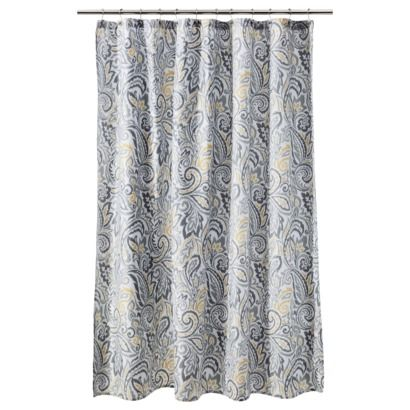Threshold Paisley Shower Curtain Yellow Making Our Future House A Home