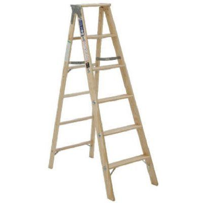 6 Ft Step Ladder Wood Type Iii Model Bw336 Wood Steps Step Ladders Ladder