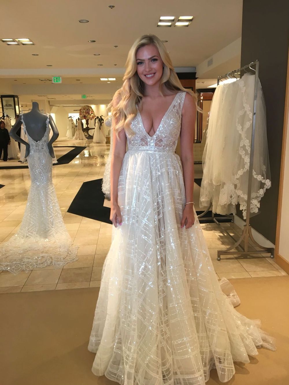 stunning new #berta bride ❤ from our trunk show at @saks beverly