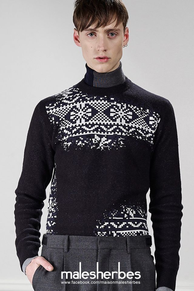 [ Fashion ] Viktor & Rolf Homme Fall 2015 Please follow us on our FACKBOOK page, if you interested and also to know more about us and crochet, knitting, arts, fashion, movies and more… https://www.facebook.com/maisonmalesherbes/