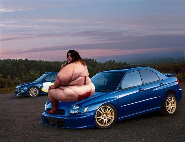 big woman squash car  Strange Cars  Pinterest  Cars Boats and