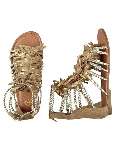 Fringe Gladiator Sandals