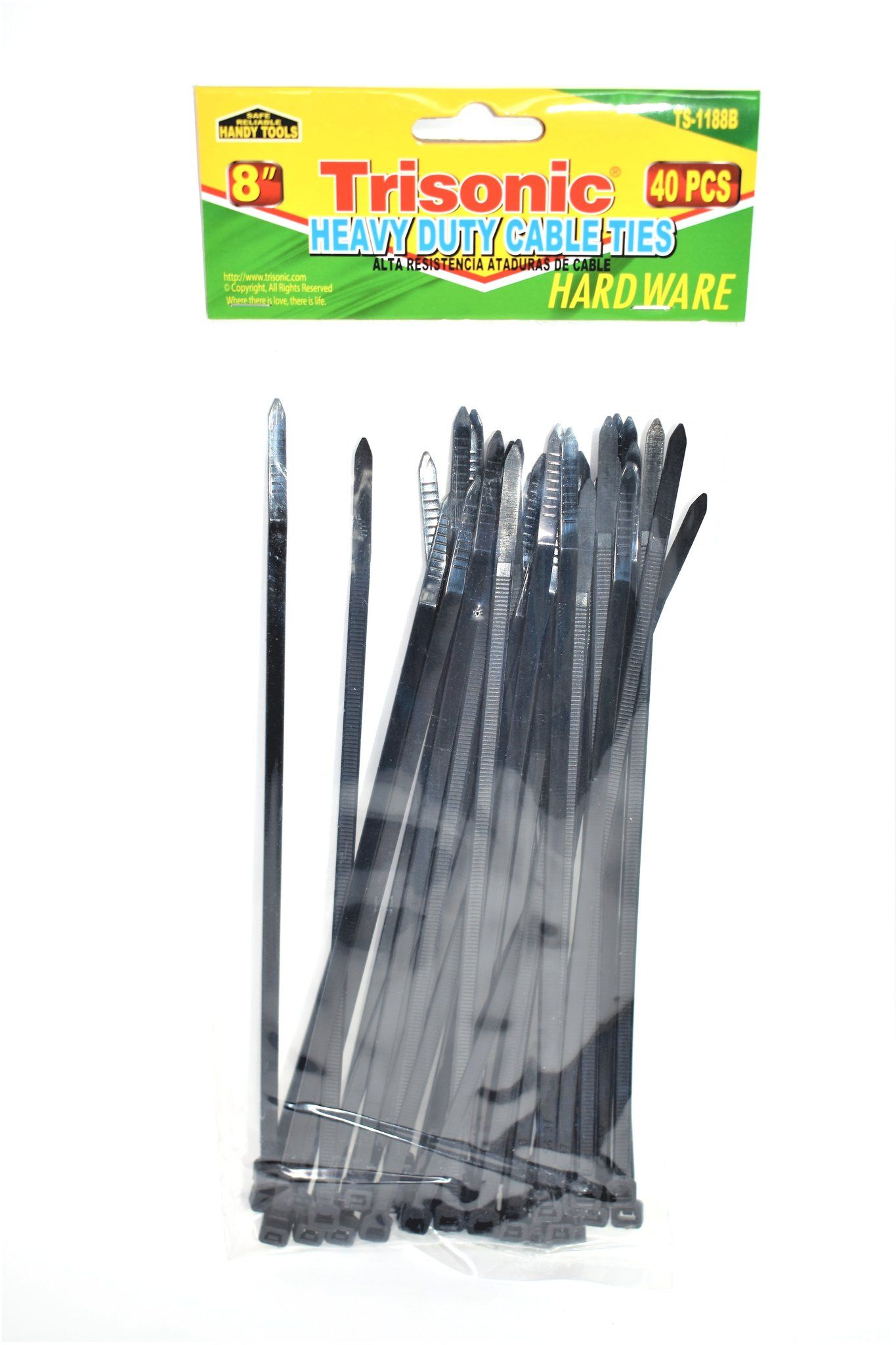 8 heavy duty cable ties 40ct cable tools hardware tie