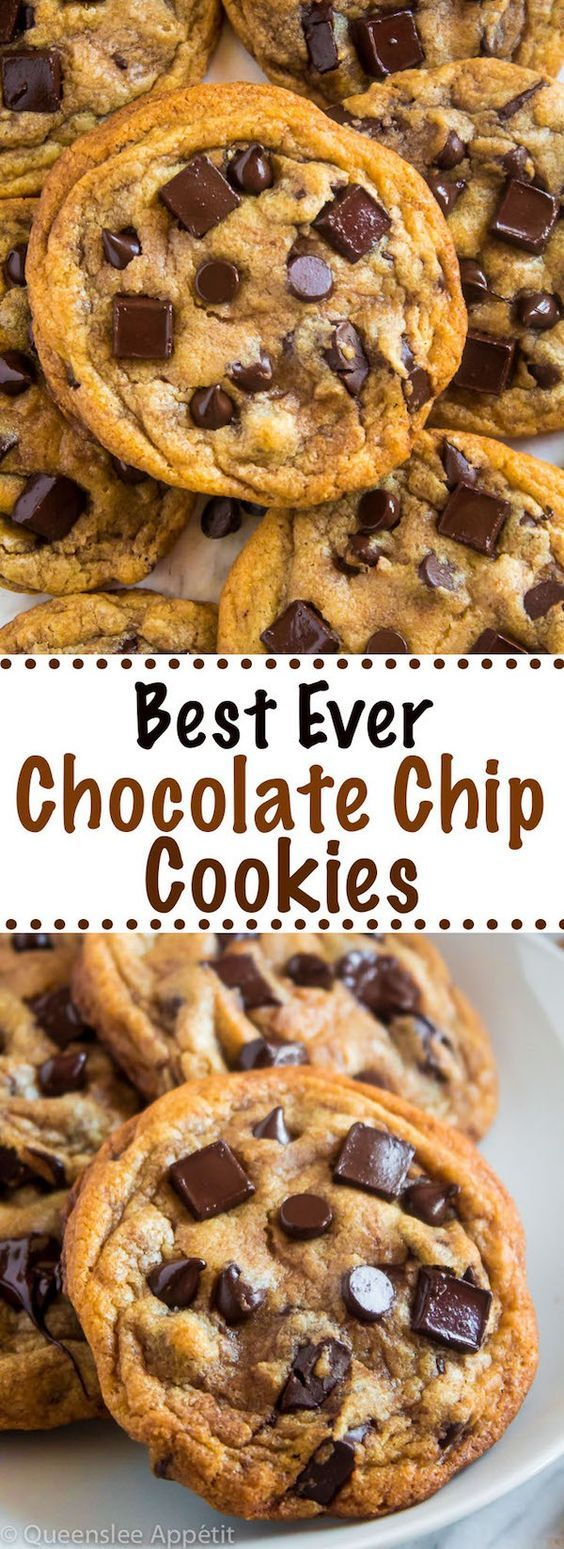 Best Ever Chocolate Chip Cookies ~ Recipe | Queenslee Appétit
