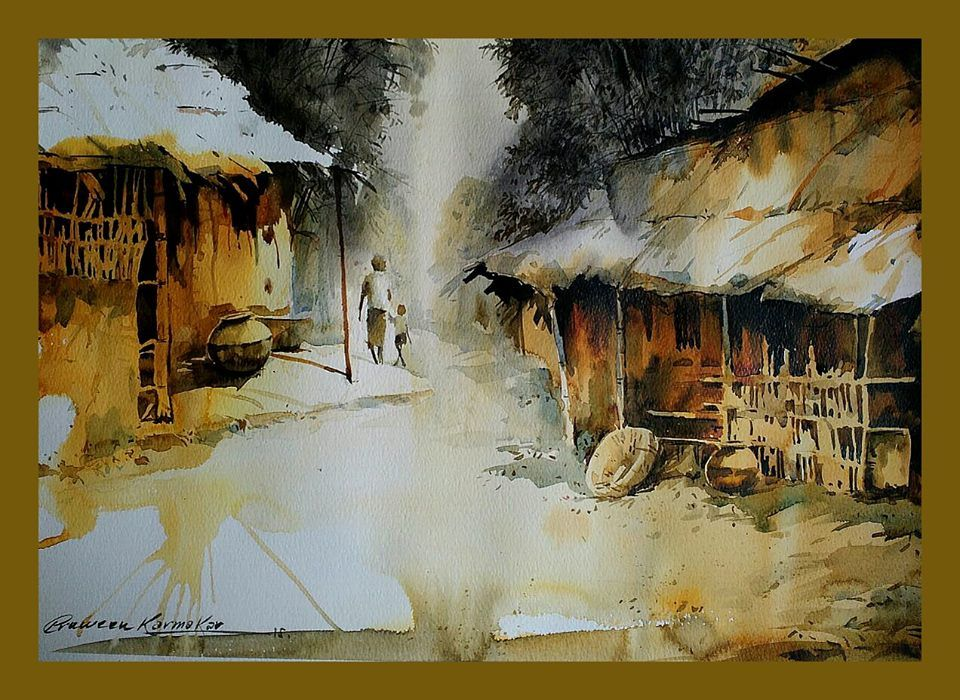 Watercolour Watercolor Landscape Watercolor Canvas Watercolor Art