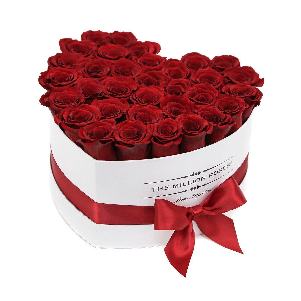 Love Box White Red Roses Red Eternity Roses The Million Roses Million Roses Luxury Flowers Rose