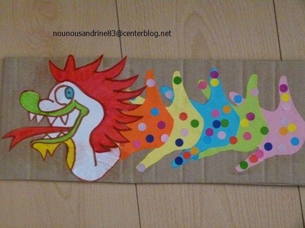 Activit manuelle le dragon mam pinterest activit manuelle - Activite manuelle pour maternelle ...