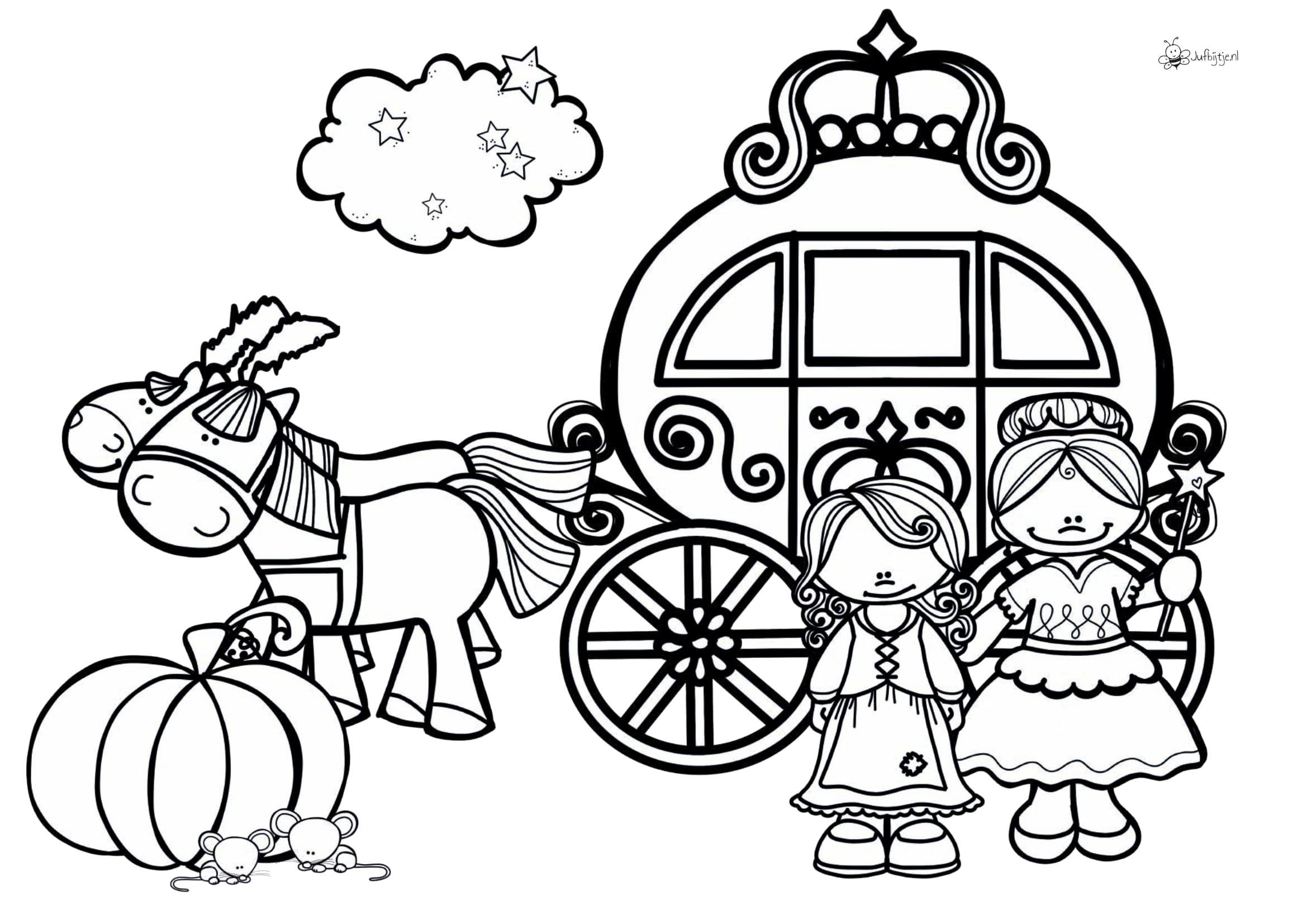 Kleurplaten Thema Sprookjes Roodkapje Assepoester Doornroosje Sneeuwwitje Jufbijtje Nl Doornroosje Sprookjes Sneeuwwitje
