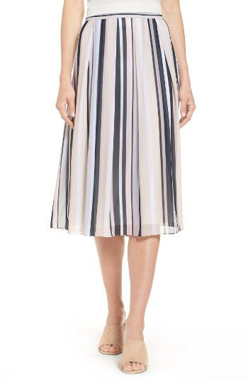 Anne Klein Anne Klein Stripe A-Line Skirt available at #Nordstrom