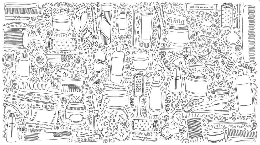 Heres A Look Inside This Adult Coloring Book About The Beauty Of Natural Hair