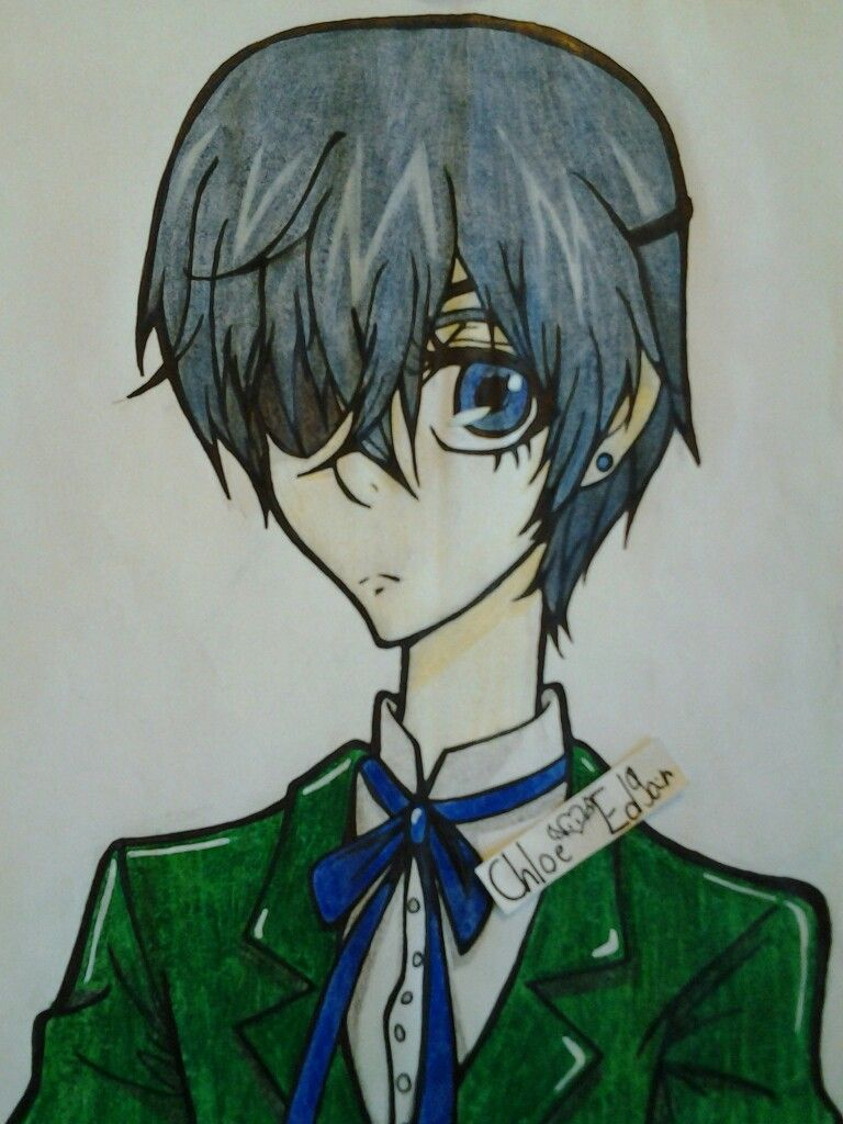 Ciel Is So Pretty And Has A Really Pointy Chin Here Oops My Drawings My Arts Art