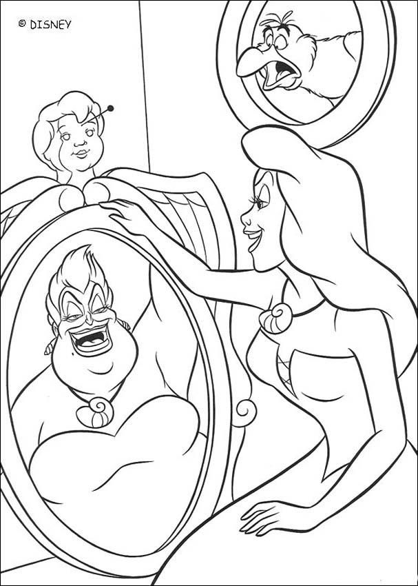 Coloring sheet about Disney movie the Little Mermaid. Beautiful ...