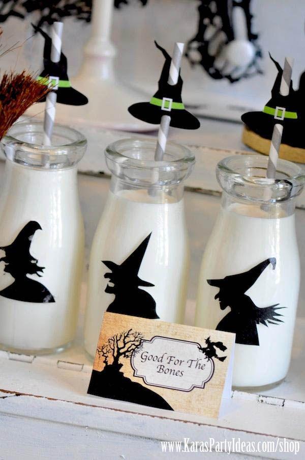 Witches Ball Halloween Party via Kara\u0027s Party Ideas Ideas -www - halloween party decoration ideas