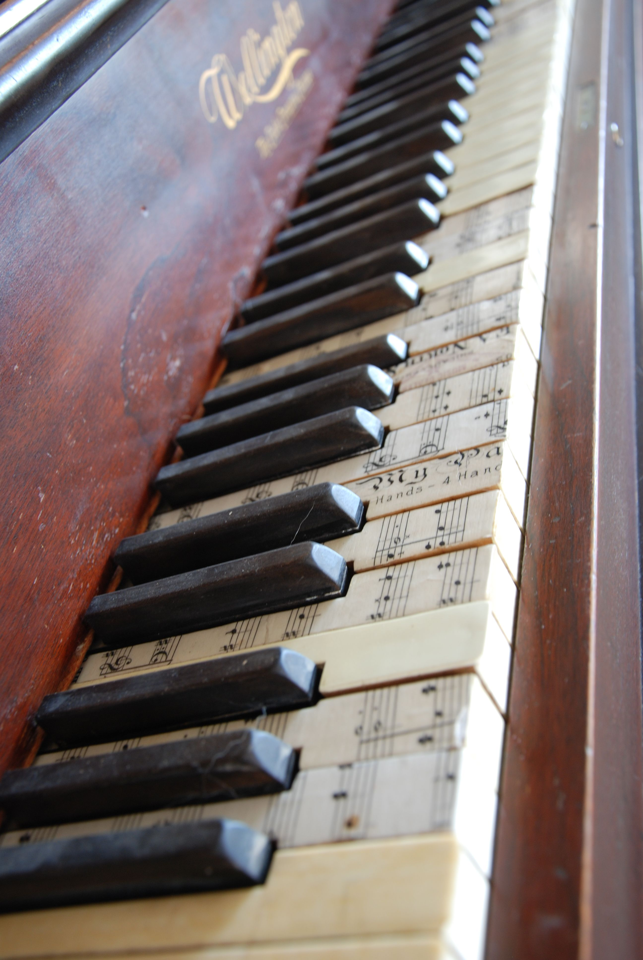 Found this beat up piano for free on Craigslist  Gave the
