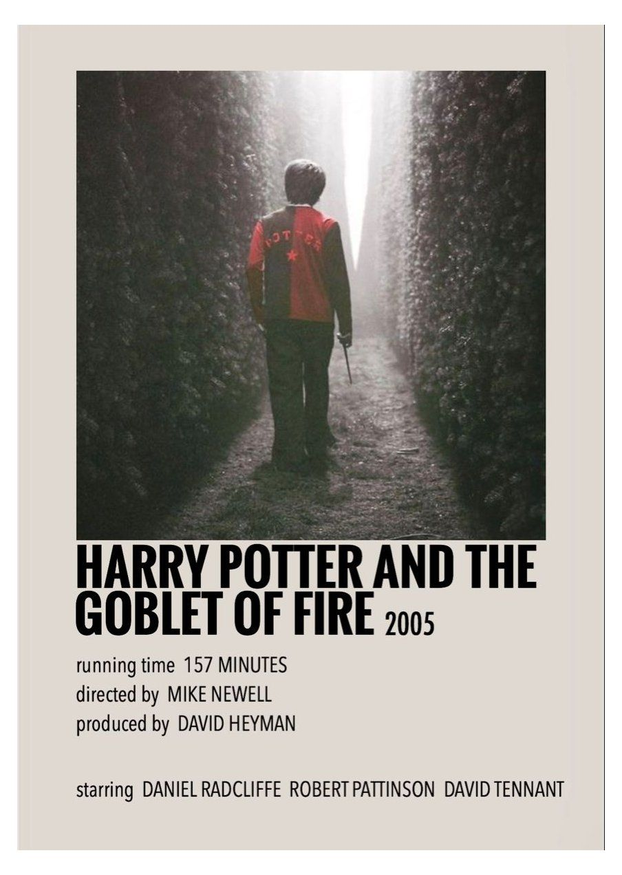 alternative movie posters polaroid harry potter