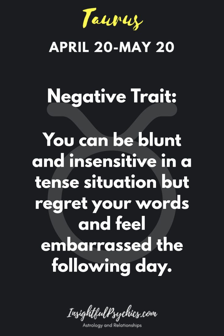 negative taurus horoscope