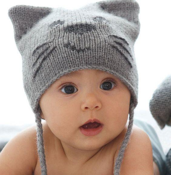 Bonnet et mitaines : Originale, craquante et cocoon... une panoplie pour les petits chats ...