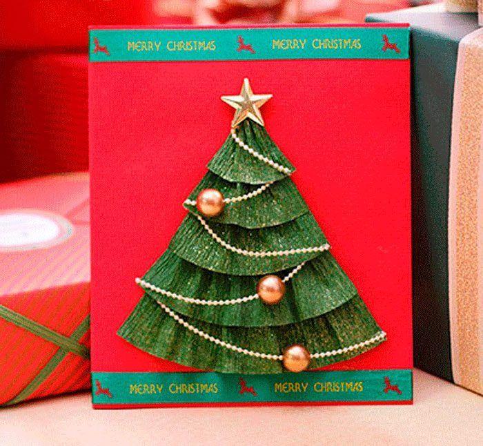 Красивые открытки к новому году сделать своими руками