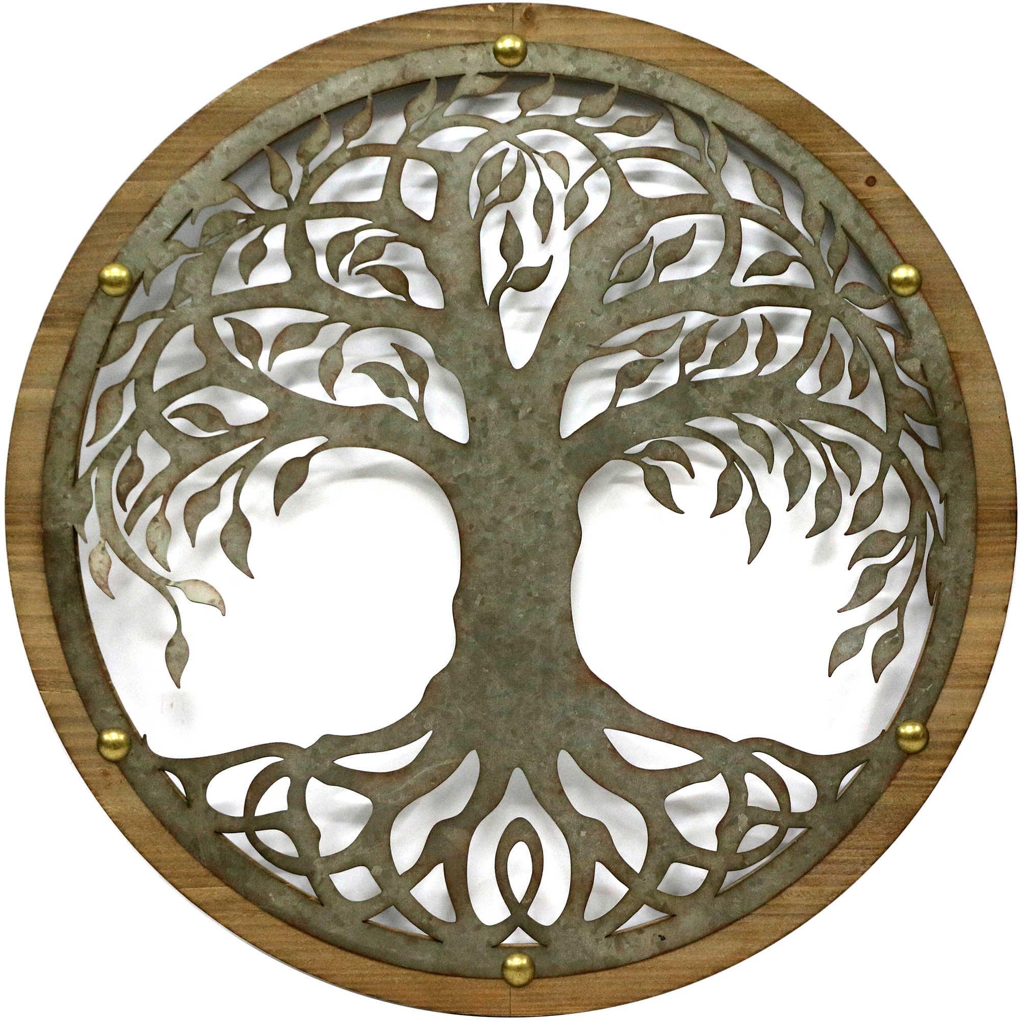 Round tree inch metal wall art cara pinterest metal wall