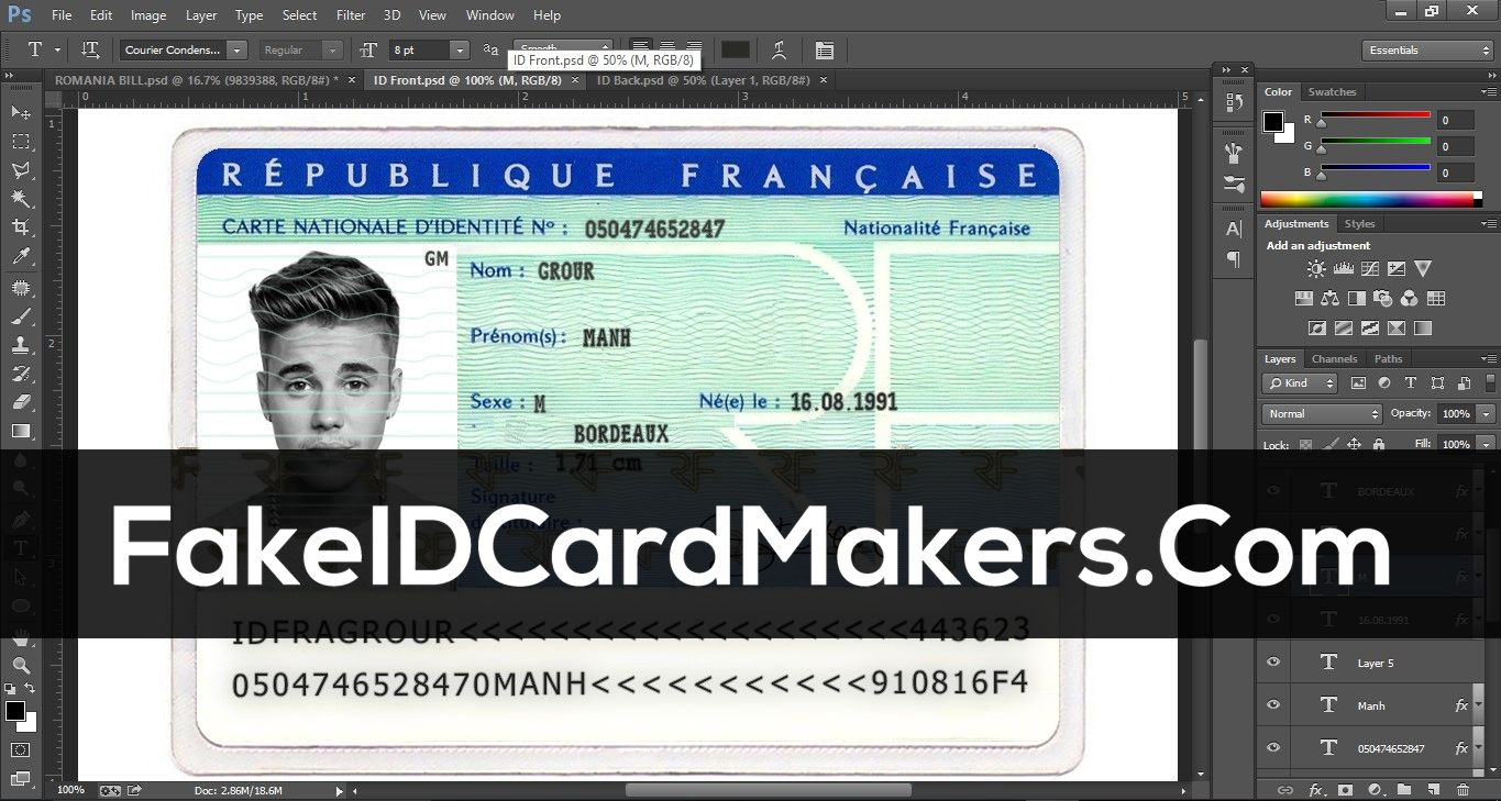 The Exciting France Id Card Template Psd Fake Driver License Inside Texas Id Card Template Photogra Id Card Template Father S Day Card Template Card Template