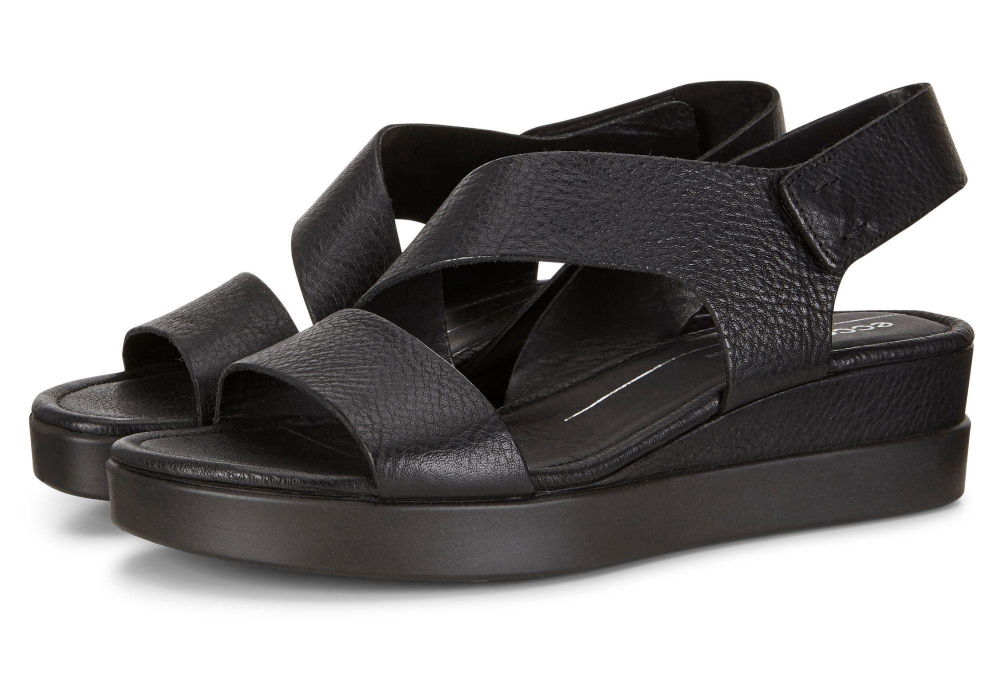 ECCO Touch Sandal Plateau 26040311001 Black - Ladies Formal Sandals