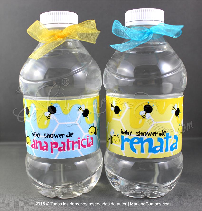 Botella De Agua Etiquetas para ...