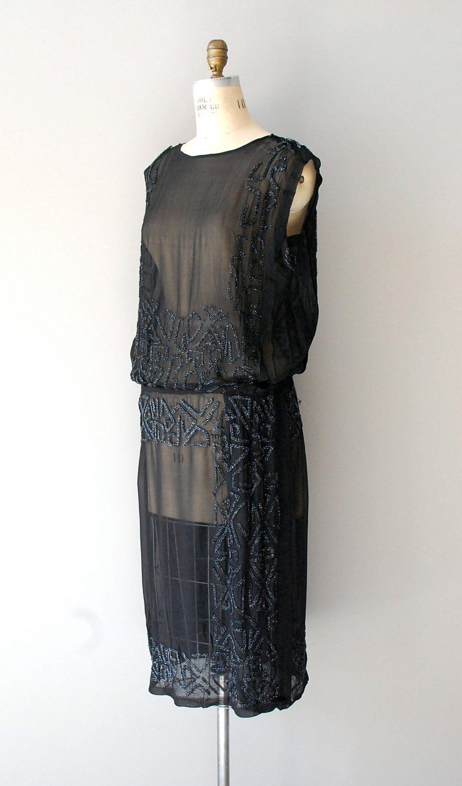 1920s dress / silk beaded 20s dress / Pandora's Box   Etsy ...
