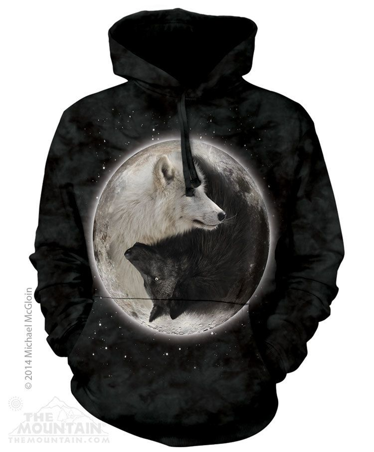 6c6a49f5f The Mountain Hoodie - Yin Yang Wolves in 2019 | Rebels Wares | Wolf ...