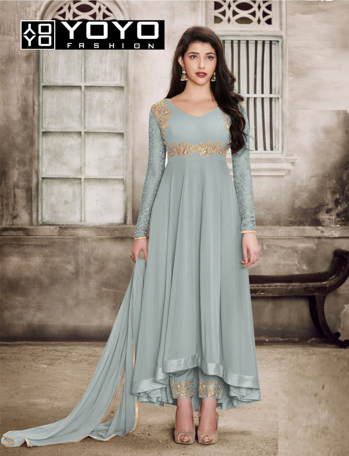 aafc9b0a556 Sparky Grey  AnarkaliSalwarSuit Online On  YOYOFashion. Call or Whatsapp  for more info here  +91 8000588688  Dresses  Offers  SalwarSuitt  GreySuit  ...
