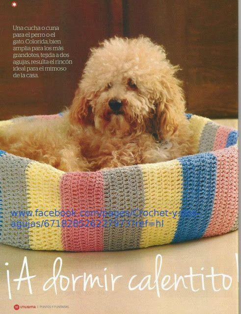 Patrón #607: Cama de Perro a Crochet #ctejidas http://blgs.co/il-Pef ...
