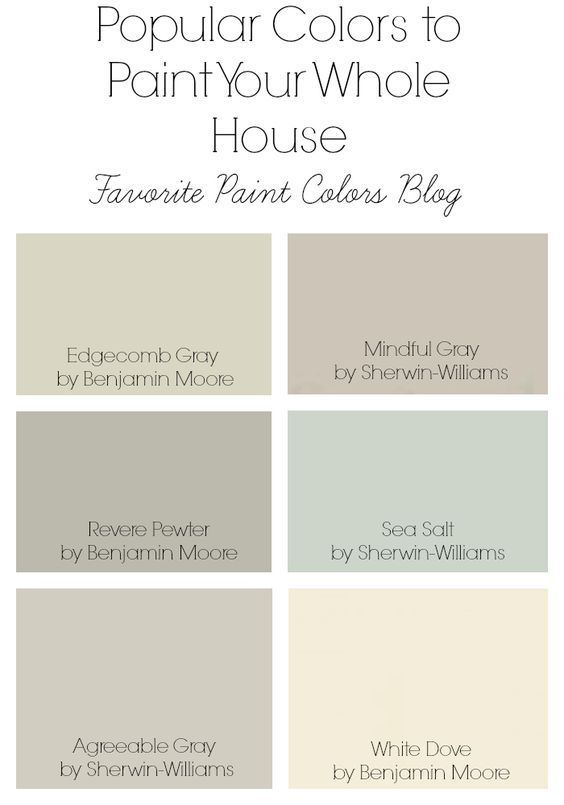Popular Paint Colors To Paint Your Whole House In 2019