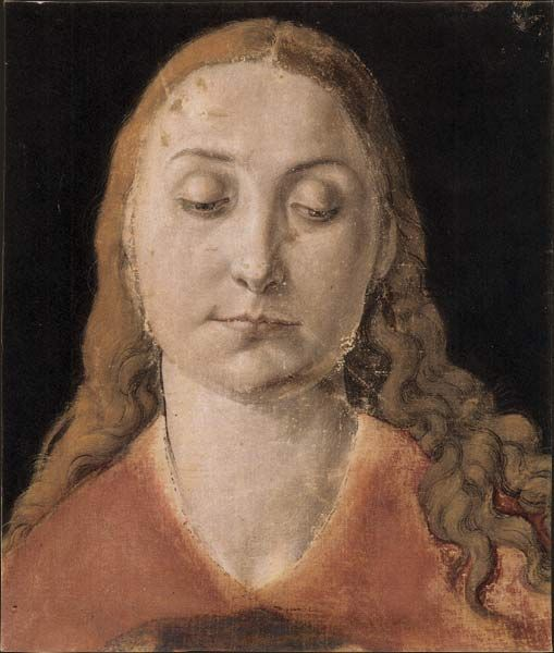 Albrecht Dürer - Head of a Woman 1520 c. This portrait reminds me of  Michael Sittow s two portraits of Catherine of Aragon. d4aab51eb308
