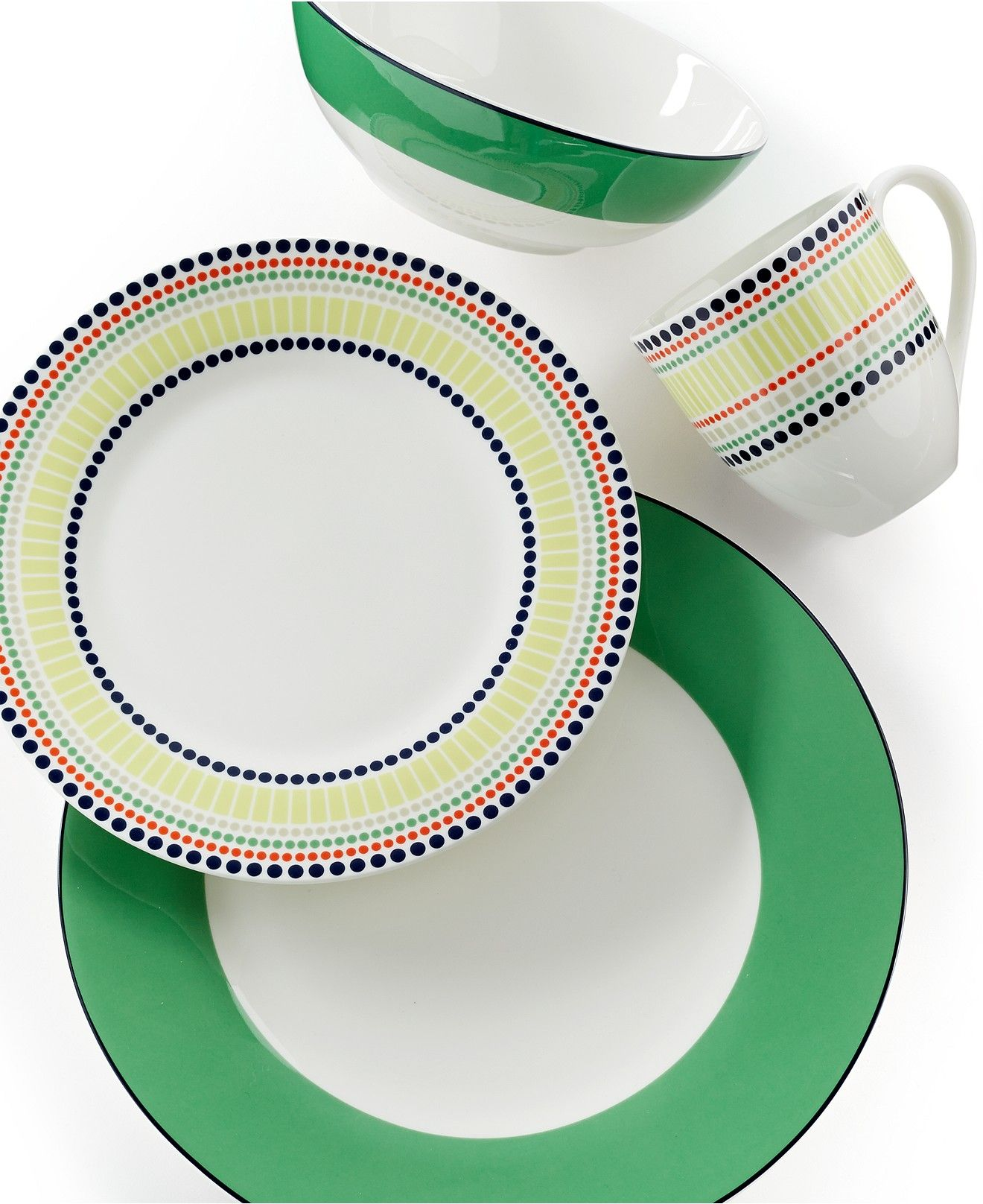 kate spade new york Dinnerware Hopscotch Drive Green Collection - Casual Dinnerware - Dining u0026 Entertaining - Macyu0027s  sc 1 st  Pinterest & kate spade new york Dinnerware Hopscotch Drive Green Collection ...