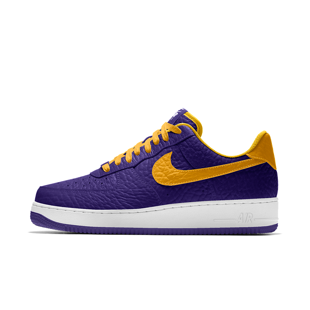timeless design 91b85 09bb6 Nike Air Force 1 Low Premium iD (Los Angeles Lakers) Men s Shoe Size 6.5  (Purple)
